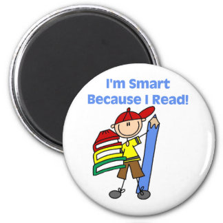 Boy Smart Because I Read Tshirts and Gifts Magnet