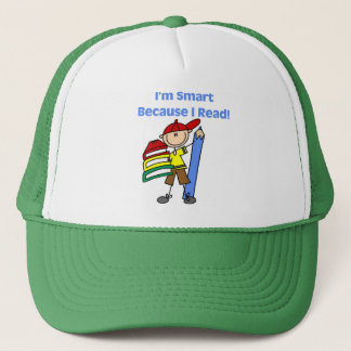Boy Smart Because I Read Tshirts and Gifts Trucker Hat