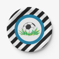 Boy Soccer Birthday Party Paper Plates
