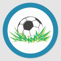 Boy Soccer Birthday Party Stickers