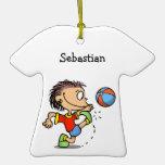 Boy soccer Let's kick it Ornament