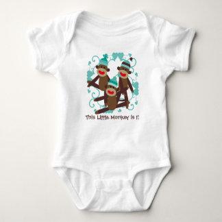 Boy Sock Monkey Birthday T-shirt