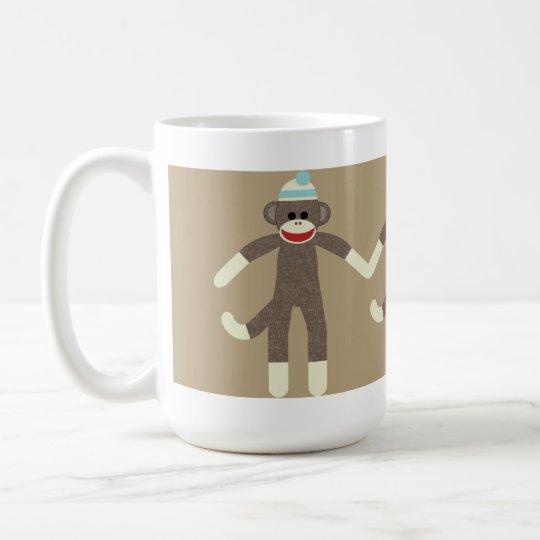 Boy Sock Monkey friends mug