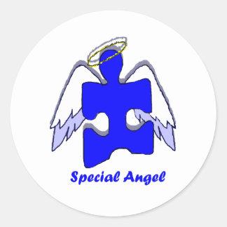 Boy Special Angel Round Sticker