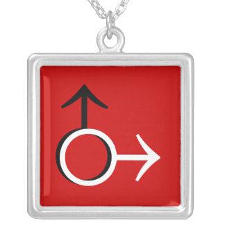 Boy Square Pendant Necklace