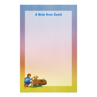 Boy & squirrel Stationery