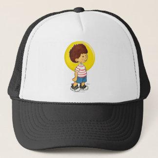Boy Standing Trucker Hat