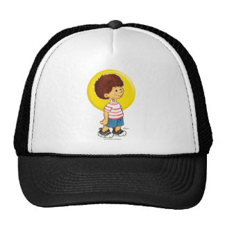 Boy Standing Trucker Hat