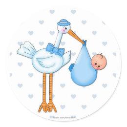 Boy Stork Sticker sticker