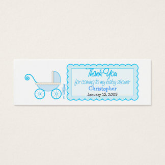 Boy Stroller Baby Shower Favor Tag