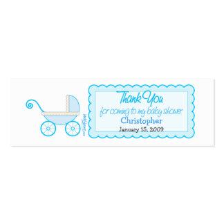 Boy Stroller Baby Shower Favor Tag Business Card Templates