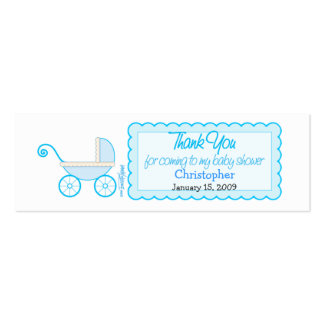Boy Stroller Baby Shower Favor Tag Mini Business Card