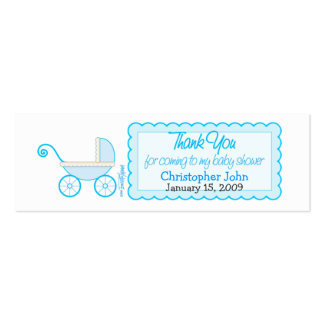 Boy Stroller - Thanks Favor Tag Double-Sided Mini Business Cards (Pack Of 20)
