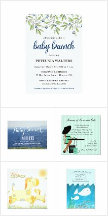 Boy Summer Baby Shower Invitations