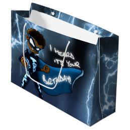 Boy Super Hero Birthday Gift Bag - Large, Glossy