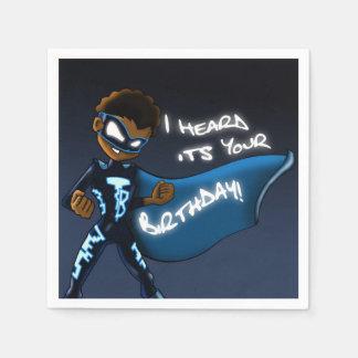 """Boy Super Hero Birthday"" Paper Napkin"