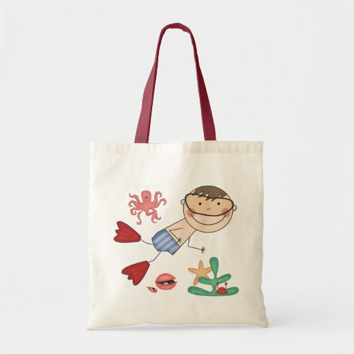 Boy Swimming T-shirts and Gifts Budget Tote Bag
