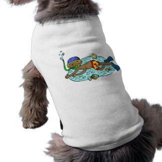 Boy Swimming With Fish Dog Clothing