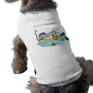Boy Swimming With Fish Doggie Tee Shirt