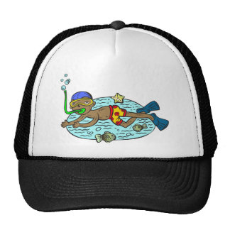 Boy Swimming With Fish Trucker Hat