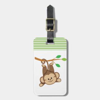 Boy Swinging Monkey Bag Tag