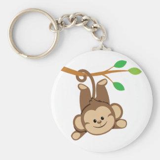 Boy Swinging Monkey Keychain