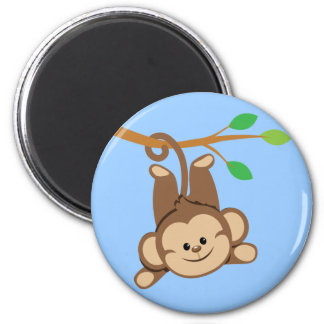 Boy Swinging Monkey Fridge Magnet