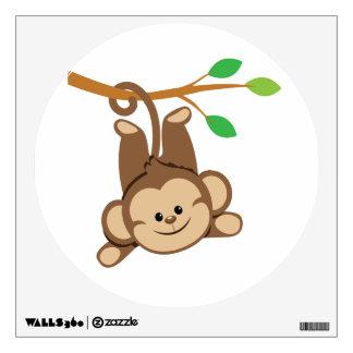 Boy Swinging Monkey Wall Sticker