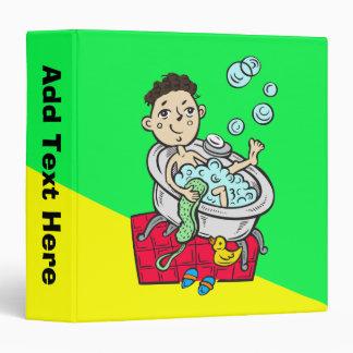 Boy Taking Bath Binder