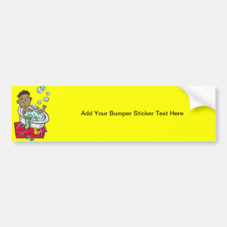 Boy Taking Bath Bumper Sticker
