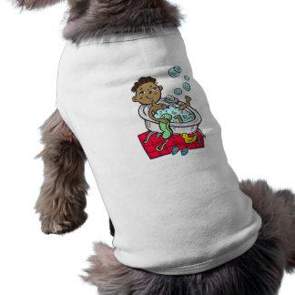 Boy Taking Bath Doggie T-shirt