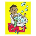 Boy Taking Bath Flyer