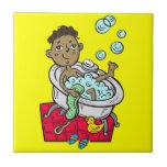 """Boy Taking Bath Tile<br><div class=""""desc"""">Boy Taking Bath</div>"""