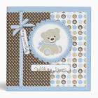 Boy Teddy Bear 2 in. Photo Album B 3 Ring Binder
