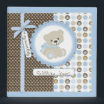 """Boy Teddy Bear 2 in. Photo Album B 3 Ring Binder<br><div class=""""desc"""">Novelty polka dot print with scalloped frame and 3D look stripe bow and cute teddy bear photo album. Photo sheets not included.</div>"""