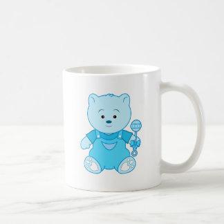 Boy Teddy Bear in Blue Classic White Coffee Mug
