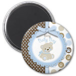 Boy Teddy Bear Round Magnet Fridge Magnet