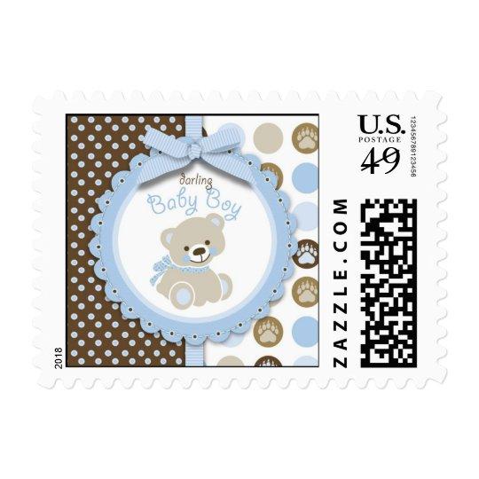 Boy Teddy Bear Stamp