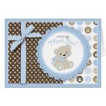 Boy Teddy Bear Thank You Card
