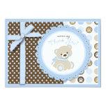 Boy Teddy Bear Thank You Card Invitation