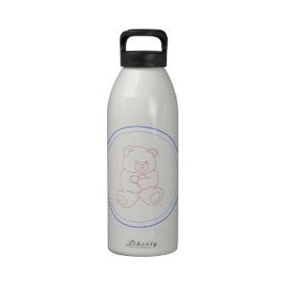 Boy Teddy Bear Water Bottles