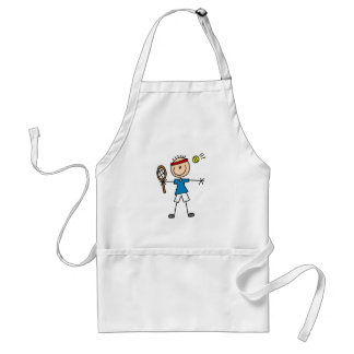 Boy Tennis Player tshirts and Gifts Adult Apron