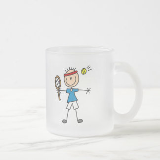 Boy Tennis Player tshirts and Gifts Frosted Glass Coffee Mug