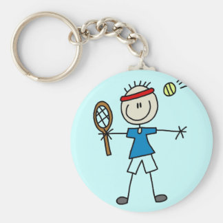 Boy Tennis Player tshirts and Gifts Basic Round Button Keychain