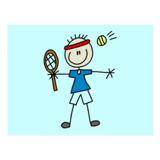 Boy Tennis Player tshirts and Gifts Postcard