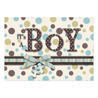 Boy Thank You Note Large Business Card