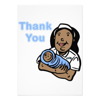 Boy thank you nurse custom announcements