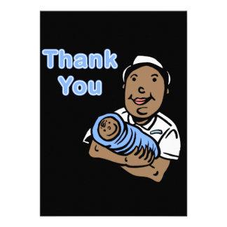 Boy thank you nurse personalized announcements