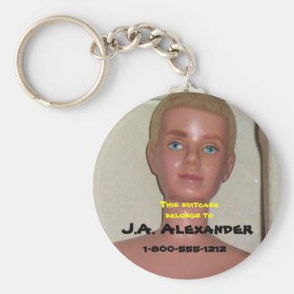 Boy Toy Bag Tag Basic Round Button Keychain
