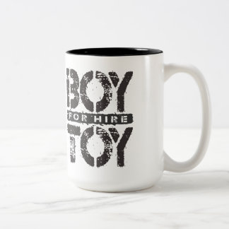 BOY TOY For Hire - Available For Sugar Daddy, Onyx Two-Tone Coffee Mug